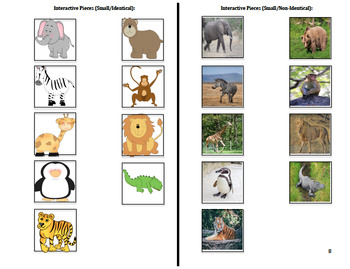 Interactive Emergent Reader Book: At The Zoo