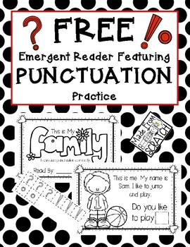 Interactive Emergent Reader Featuring PUNCTUATION Practice