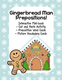 Interactive Emergent Reader, Gingerbread Man, Where are You? Prepositions ESL