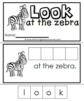 Emergent Reader - Sight Word LOOK