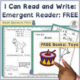 Interactive Emergent Reader: Toys -  FREE   Open Dyslexic Font