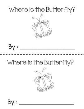 Interactive Emergent Reader,Where is the Butterfly? Prepositions ESL