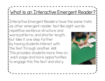 Interactive Emergent Readers:  A Guide