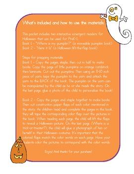 Interactive Emergent Readers for Halloween!