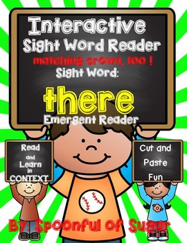 Interactive Emergent Sight Word Reader: THERE