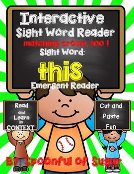 Interactive Emergent Sight Word Reader: THIS