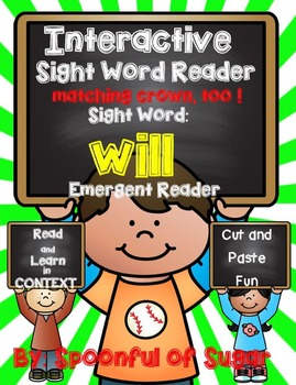 Interactive Emergent Sight Word Reader: WILL