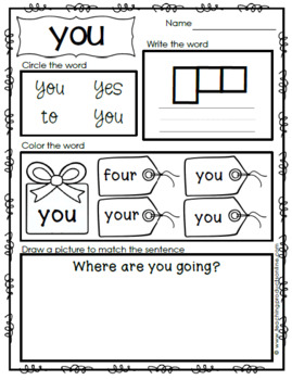 Emergent Reader - Sight Word YOU