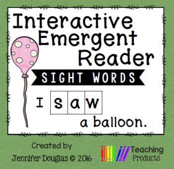 Emergent Reader - Sight Word SAW