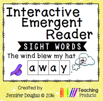 Interactive Emergent Sight Word Reader - the wind blew my hat AWAY