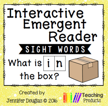 Interactive Emergent Sight Word Reader - what is IN the box