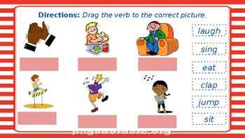 Interactive English Language Learners Verb Activities