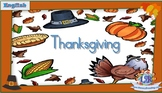 Interactive English literacy activities: Thanksgiving