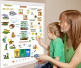 Interactive Environmental Science Wall Play Set
