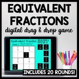 DIGITAL Equivalent Fraction Sort, Fraction Game for Google Drive, 4.NF.1