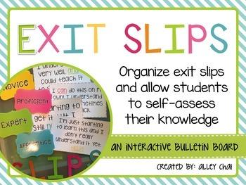 Interactive Exit Slips Bulletin Board