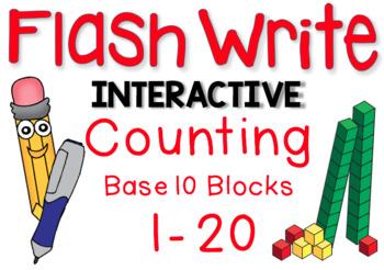 Interactive FLASHWRITE Counting Base Ten Blocks 1-20