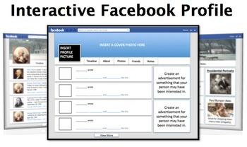 Interactive Facebook Profile