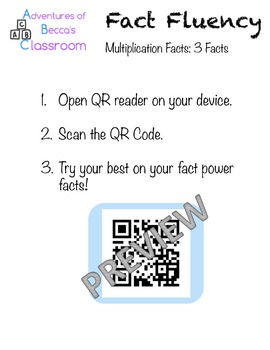 Interactive Fact Fluency: Multiplication 3's Table Google Forms