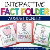 Interactive Fact Folder - August Bundle (Apples, Germs, Jo