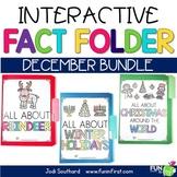 Interactive Fact Folder - December Bundle (Winter Holidays, Reindeer, Christmas)