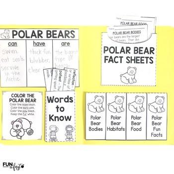 Interactive Fact Folder - January Bundle (Penguins, Polar Bears, MLK, Jr.)