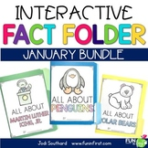 Interactive Fact Folder - January Bundle (Penguins, Polar Bears, MLK, Jr.)