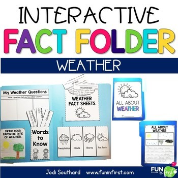 Interactive Fact Folder - March Bundle (Rainbows, Weather, & The Solar System)
