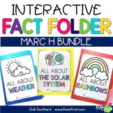 Interactive Fact Folder - March Bundle (Rainbows, Weather,
