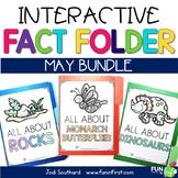 Interactive Fact Folder - May Bundle (Rocks, Monarch Butterflies, & Dinosaurs)