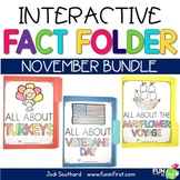 Interactive Fact Folder - November Bundle (Veterans Day, Turkeys, The Mayflower)