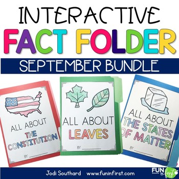 Interactive Fact Folder - September Bundle (Matter, Constitution, Leaves)