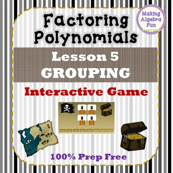 Interactive Factoring Polynomials Game Grouping 100% Prep Free