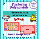 Interactive Factoring Polynomials Game Only x2 + x + c PREP FREE