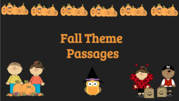 Interactive Fall Themed Comprehension Passages Bundle: Google Classroom