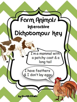 Farm Animals Activity: Farm Animals Dichotomous Key/ Farm
