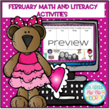 Interactive February Math and Literacy Google Slide Activities!