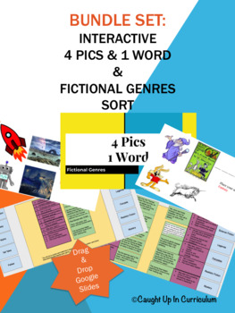 Interactive Fictional Genres BUNDLE 4 Pics 1 Word & Digital Sort