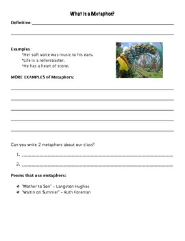 Interactive Figurative Language Student Booklet (11 Poems Included)
