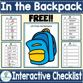 INTERACTIVE FILE FOLDER: School Theme  (Autism and Special Education)