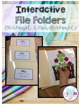 Interactive File Folders (Seasonal & Non-Seasonal)