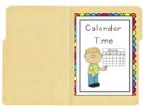 Interactive File Folder for Calendar Time!