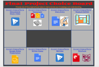Interactive Final Project Selection Board