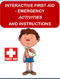 """Interactive """"First Aid- Emergency Activities"""" and Instructions"""