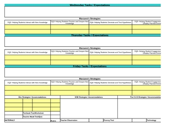 Interactive First Grade Science Lesson Plan Template-Florida