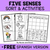 Five Senses Sort Activities