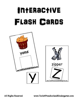 Interactive Flash Cards Upper to Lower Alphabet - PreK Kin