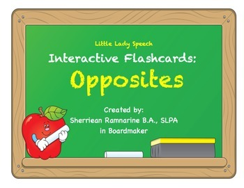 Interactive Flashcards: Opposites Sample