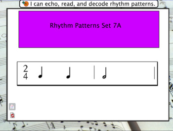 Interactive Flashcards- Rhythm Patterns Set 7A