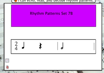 Interactive Flashcards- Rhythm Patterns Set 7B
